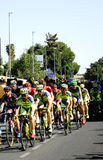 SEVILLA, ESPAÑA - 26 DE AGOSTO DE 2015: Bici de los corredores en el championsh Fotografía de archivo