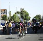 SEVILLA, ESPAÑA - 26 DE AGOSTO DE 2015: Bici de los corredores en el championsh Foto de archivo