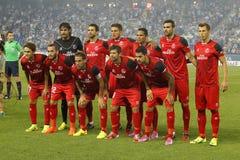 Sevilla FC lineup arkivfoton