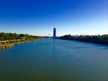 Sevilla flod Royaltyfria Bilder