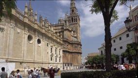Sevilla fontanna blisko katedry zbiory wideo