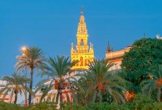 Sevilla Giralda Kontrollturm stockbilder