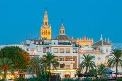 Sevilla Giralda Kontrollturm stockfotos