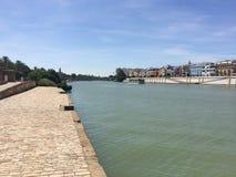Sevilla Guadalquivir Riverside Foto de archivo