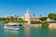 Sevilla guld- torn Arkivbild