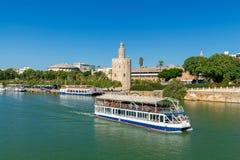 Sevilla guld- torn Royaltyfria Bilder