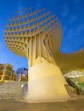 Sevilla - hölzerne Struktur Metropol-Sonnenschirmes gelegen an La-Encarnacions-Quadrat Stockfotografie