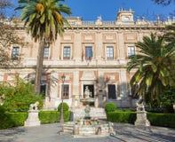Sevilla - het Algemene Archief van de algemene DE Indas renaissance de bouw ontworpen Juan de Herrera van Brits-Indië Archivo stock afbeeldingen