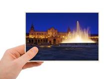 Sevilla Hiszpania fotografia w ręce Zdjęcie Stock