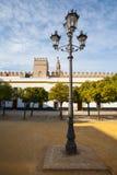Sevilla-Kathedrale Giralda-Turm vom Alcazar von Sevilla Andalusi Lizenzfreie Stockfotos