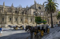 Sevilla-Kathedrale, Spanien stockfotografie
