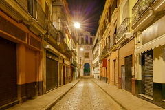 Sevilla. Old street at night. Royalty Free Stock Images