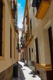 Sevilla old town near calle Agua Vida st Spain Stock Image