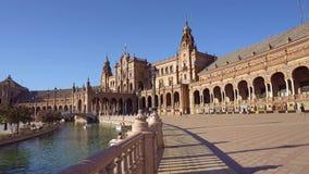 Sevilla, plaza de epana almacen de metraje de vídeo