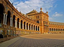 Sevilla, Plaza de Espana 02. View of Plaza de Espana in Sevilla, Spain Stock Image