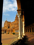 Sevilla, Plaza de Espana 04. View of Plaza de Espana in Sevilla, Spain Royalty Free Stock Photos