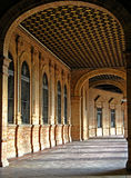 Sevilla, Plaza de Espana 05 Foto de archivo libre de regalías