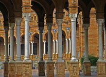 Sevilla, Plaza de Espana 09 Imagen de archivo libre de regalías