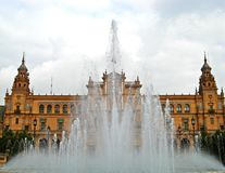 Sevilla, Plaza de Espana 11. View of Plaza de Espana in Sevilla, Spain Royalty Free Stock Photo