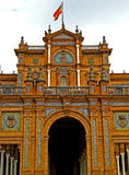 Sevilla, Plaza de Espana 12. View of Plaza de Espana in Sevilla, Spain Stock Photography