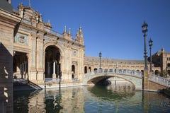 Sevilla Plaza de Espana imagen de archivo