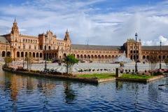 Sevilla Plaza de Espana Arkivfoto