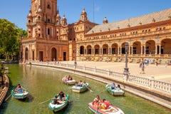 Sevilla Plaza de Espana imagen de archivo libre de regalías
