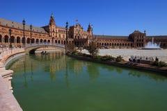 Sevilla, plaza DE espana (het vierkant van Spanje) Stock Fotografie