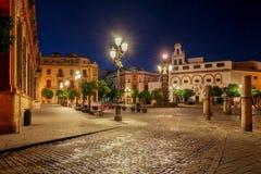 Sevilla Plaza DE La Virgen los Reyes royalty-vrije stock afbeelding