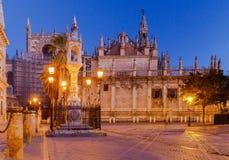 Sevilla Plaza DE La Virgen los Reyes royalty-vrije stock afbeeldingen