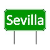 Sevilla road sign. Royalty Free Stock Photos