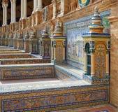 Sevilla Sevilla Plaza de Espana in Andalusia royalty-vrije stock foto