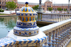 Sevilla Sevilla Plaza de Espana Andalusia Spain lizenzfreie stockfotos