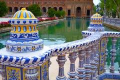 Sevilla Sevilla Plaza de Espana Andalusia Spain stockbilder