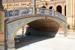 Seville, Andalusia: square of Spain stock image