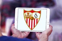 Sevilla soccer club logo Royalty Free Stock Image