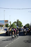 SEVILLA, SPAGNA - 26 AGOSTO 2015: Bici dei corridori nel championsh Immagini Stock Libere da Diritti