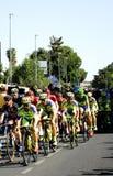 SEVILLA, SPAGNA - 26 AGOSTO 2015: Bici dei corridori nel championsh Fotografia Stock