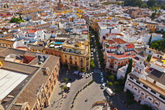 Sevilla Spain. Panorama of Sevilla Spain - view from cathedral belltower stock images