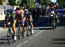 SEVILLA, SPAIN - AUGUST 26, 2015: Runners bike in the championsh Stock Image