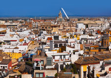 Sevilla Spain. Panorama of Sevilla Spain - view from cathedral belltower stock photos