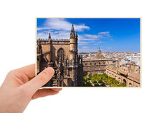 Sevilla Spain photography in hand Stock Photography