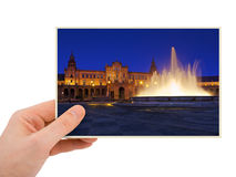 Sevilla Spain photography in hand Stock Photo
