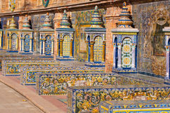 Sevilla spain square banks royalty free stock images