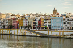 Sevilla, Spain. Triana neighborhood in Sevilla in Spain stock photos