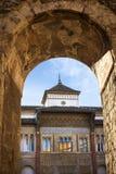 Sevilla, Spanien - Ansicht des inneren Patios Patio de la Monteria des königlichen Alcazar von Sevilla Lizenzfreie Stockbilder