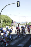 SEVILLA SPANIEN - AUGUSTI 26, 2015: Löparecykel i championshen Royaltyfria Foton