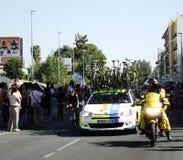 SEVILLA SPANIEN - AUGUSTI 26, 2015: Löparecykel i championshen Arkivbild