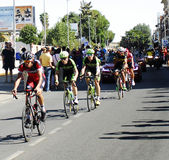 SEVILLA SPANIEN - AUGUSTI 26, 2015: Löparecykel i championshen Royaltyfri Foto