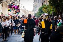 Sevilla, Spanien Dezember 2015 Traditioneller spanischer Musiker wissen Lizenzfreies Stockbild